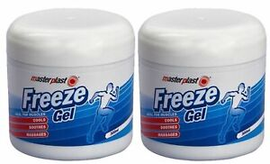 2x Masterplast Freeze Gel Ideal For Muscle Pain Cools Soothes Massages 200ml