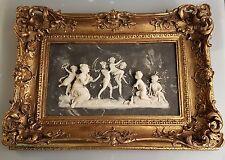 Relief Bild Goldrahmen Barockrahmen Engel Motiv