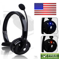 Bluetooth Noise-Canceling Headset Over The Head W/Mic For Trucker Drivers PS3 US