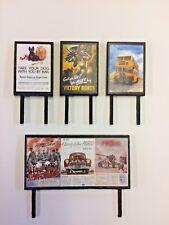 4 Model Railway Billboards / Posters - Trackside Signs - OO Gauge - Pack 170