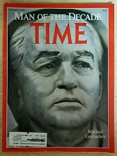 Time Magazine 1990 January 1 Man of the Decade Mikhail Gorbachev