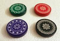 2 Pcs India Tournament Carrom Carom Board Coins Plastic Striker Flicker Counter