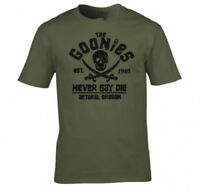 The Goonies Never Say Die Astoria Oregon Pirate Flag T shirt men USA size S-3XL