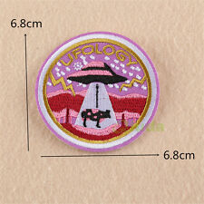 UFOLOGY Embroidered Sew Iron On Patch Badge Fabric Clothes Applique Transfer DIY