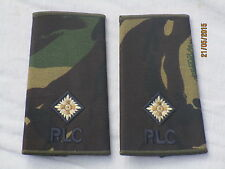 Rangschlaufen:  2nd Lieutenant  ,RLC,Royal Logistic Corps,DPM