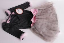 NWT Pottery Barn Kids Gray Kitty Cat Tutu Halloween costume 3T