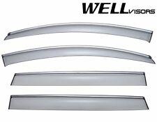 For 07-15 Audi Q7 WellVisors Side Window Defectors Visors W/ Chrome Trim