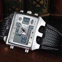 Ohsen Men's Waterproof Alarm Date Digital Analog Army Sport Wrist Watch em