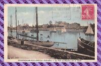 CPA 14 - OUISTREHAM-RIVA-BELLA - le port et régates sur le canal