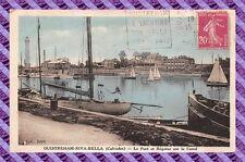 CPA 14 - OUISTREHAM RIVA-BELLA - der hafen und régates über le canal