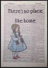 Wizard Of Oz No Place Like Home Quote Vintage Dictionary Page Print Picture Art