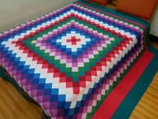 King size Machine pieced and quilted complete Quilt#90