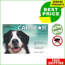 CAPSTAR for Large Dogs Over 11 Kg GREEN Pack 6 tablets Rapid Flea Prevention