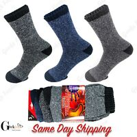 3 6 9 Pairs Mens Heated Winter Warm Thermal Boot Heavy Duty Sox Socks Size 10-13
