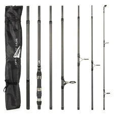 12ft 3.6M Powerful Carp Rod 7 piece Saltwater Travel Surf Fishing Rod CW:80-150g