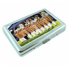 Argentina Pin Up Girls D6 Silver Metal Cigarette Case RFID Protection Wallet