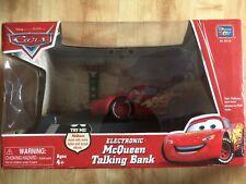 Disney Pixar - Cars Lightning McQueen - Rare Light / Sound And Moving Money Box