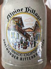 Oktoberfest Beer Stein Alpine Village Dortmunder Ritterbrau Beer Torrance Ca