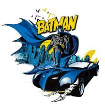 """Batman Patch Heat Transfer Iron On Graphic Applique 3.15"""" X 2.91"""" DC Comics"""