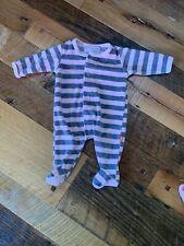 Magnificent Baby Magnetic Girls Newborn 0-3 Months Sleeper Pajamas Pink Stripe