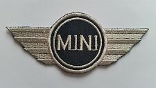 MOTOR RACING CAR SPEED FESTIVAL SEW ON / IRON ON PATCH:- MINI (a) WINGS