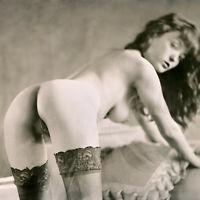 AJ BARNES - Signed Ltd Edition Print Erotica Sweet Bottomed NUDE Girl Photograph