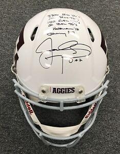 31103 Johnny Manziel Signed Multi Inscription PROLINE Texas A&M Helmet PSA/DNA