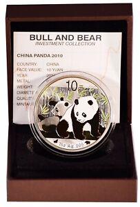 10 Yuan China 2010 Panda Bull&Bear Blueline 2010