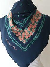 Christian Dior Foulard scarf seta fiori
