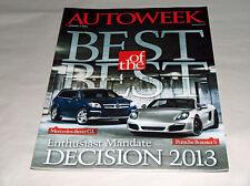 autoweek GENNAIO 2013 Car Truck RIVISTA BEST MERCEDES-BENZ GL PORSCHE BOXSTER S