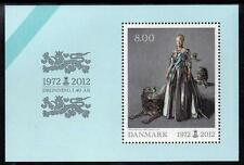 Denmark MNH 2012  40th Anniversary of the Coronation of Queen Margrethe II M/S
