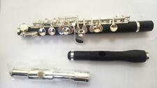 Piccolo C tune composite wood silver key Piccolo  + silver plated flute head