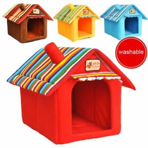 Pet Bed House For Dog Cat Tent Kennels Soft Winter Nylon Breathable Pets Shelter