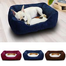 Square Cushion Comfortable Sleeping Warm Mat Pet Nest Corduroy Velvet Dog Bed