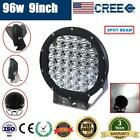 9inch 96W CREE LED DRIVING LIGHT OFFROAD ROUND SPOTLIGHT WORK CAR AUTO LAMP SUV