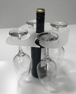 Christmas Glass holder for 4 glasses, wine bottle, Party,Prosecco, 3mm