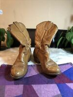 Stewart Boot Co. Vintage 1977 Hand Made Western Cowboy Cowgirl Boots Size 7D