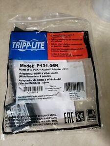 "Tripp Lite HDMI to VGA Adapter Converter F 6"" P131-06N"