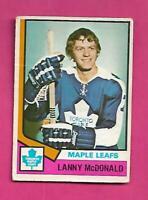 1974-75 OPC # 168 LEAFS LANNY MCDONALD  ROOKIE GOOD CARD (INV# D1714)