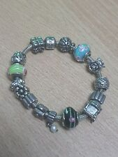 Genuine Sterling Silver 925 Pandora Charm Bracelet with 14 Charms - Weight: 60g!