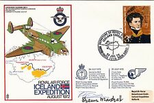 RAF Iceland Expedition Signed Flown, Signed Pilot & Shaun Marshall
