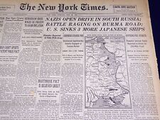 1942 MAY 12 NEW YORK TIMES - NAZIS OPEN DRIVE IN SOUTH RUSSIA - NT 1000