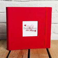 LOVE HEART PERSONALISED PHOTO ALBUM - Holds 200 6x4 inch photos GREAT GIFT IDEA
