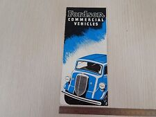 DEPLIANT BROCHURE ORIGINALE TRUCK FORD FORDSON 1938 COMMERCIAL DEALER