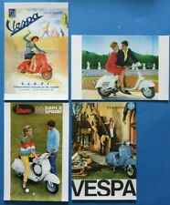 Complete Set of 4 Piaggio VESPA Scooter Postcards by Vintage Motor Scooter Club