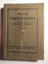 Textbuch zum kleinen Kommersbuch - 1925 / Aennchen Schumacher - Studentika