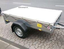 STEMA FlachPlane für Anhänger F 750 DBL 850 OPTI & AN Lichtgrau inkl. Planenseil