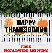 Banner Vinyl Happy Thanksgiving Advertising Sign Flag Halloween Fall Pumpkin