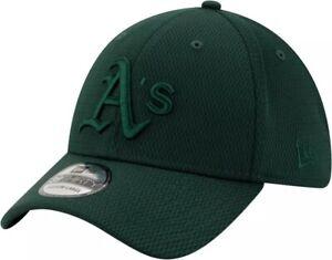 New Era Men's Oakland A's Athletics 39Thirty Perftone Stretch Fit Hat Green M/L
