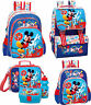Mickey Mouse Blue Backpack Official Rucksack Disney Bag Lunch Bag Set School